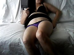 Wife home alone masturbating caught on hiddencam