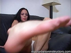 Masturbation instructor wants you to lick and suck her heel and toes