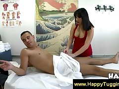 Handjob and blowjob exotic asian hottie