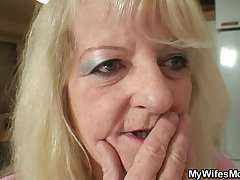 Bigcocked guy is drilling his wife'_s mom pussy