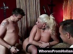 Dutch blonde hooker assfucked by client