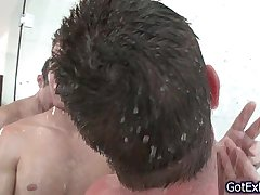 Hot gay threesome under shower 3 by gotexbf