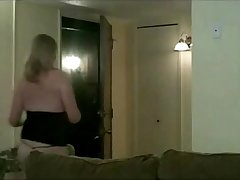 sexy housewife flashing delivery man