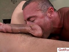 Amazing cock gets amazing blowjob wits GotRub