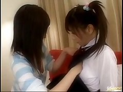 Two students playing lesbian