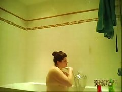 hidden spy cam of my ex upon the shower