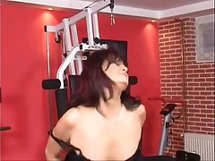 German Mature Double Penetrated At The Gym