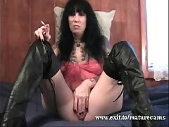 50 years Kinky Old lady teasing at home