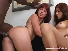 Lana and Juliana in threesome relating to big black cock