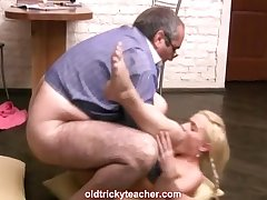 Teacher does his blonde student from master b crush