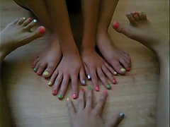Feet of my daughter and her friends