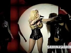 Sabrina Sabrok celeb biggest breast, Live Show in Mexico (edited)
