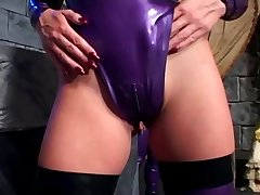Fetish sex in latex lingerie and stilettoes