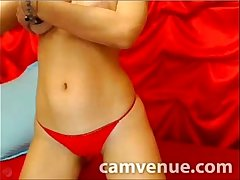 Slim euro model performs strip tease for you
